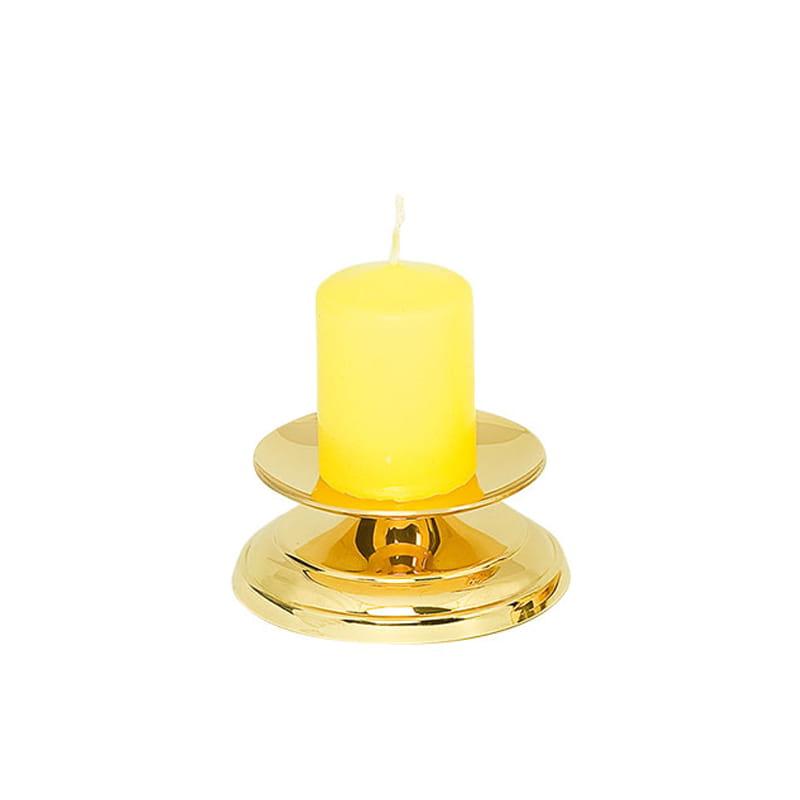 ŚWIECZNIK MOSIĘŻNY złoty 3,5 cm